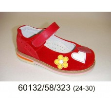 Girls' red suede shoes, model 60132-58-323