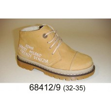 Kids' desert leather laced boots, model 68412-9
