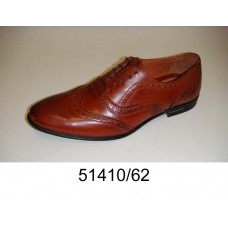 Men's brown leather oxford shoes, model 51410-62