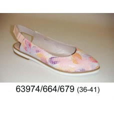 Women's leather shoes, model 63974-664-679